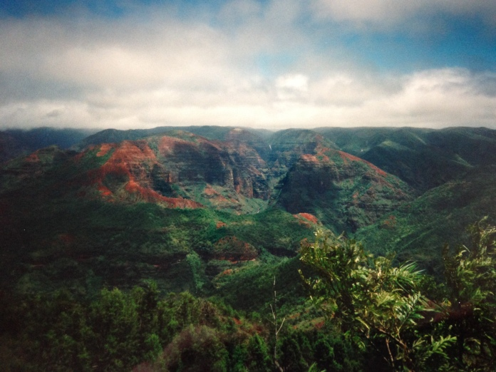 A view from our helicopter tour of Kauai.